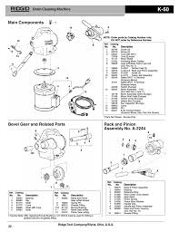 ridgid k 50 sectional cable machine user manual 2 pages
