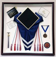 graduation shadow box framed memorabilia sports memorabilia romeo s arts in