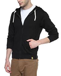 40 off on campus sutra black mens cotton zipper hoodie on amazon