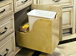 Kitchen Trash Cabinet Pull Out Bedroom Amazing 13 Best Trash Disposal Binscabinets Images On