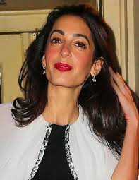 is amal clooney hair one length amal and george clooney spotted at babbo restaurant in nyc 03 04