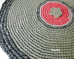 Round Woven Rugs Rug Carpet Pet Bed Floor Mat Crochet Rug Round Rug Woven Rug