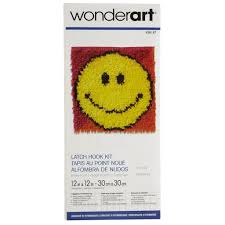 Smiley Face Vase Wonderart Latch Hook Kit Smiley Face