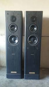 rare sony ss tl4 audiophile tower speakers transmission line