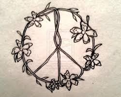sun moon flowers peace sign yin yang flower tattoos hippie