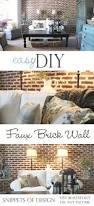 best 25 faux brick walls ideas on pinterest fake brick walls