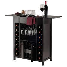 Wine Rack In Kitchen Cabinet Amazon Com Winsome Wood Yukon Wine Cabinet Kitchen U0026 Dining