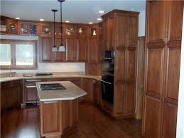 Stained Hickory Cabinets Custom Kitchen Cabinets Ds Woods Custom Cabinets Decatur