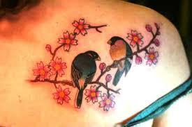cherry blossom tree and birds