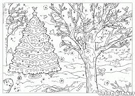 coloring page children in winter clothes