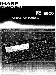 pce500 op manual random access memory computer data storage