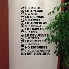 Home Decor Decals Aliexpress Com Buy Spanish House Rules Vinyl Wall Decals Wall