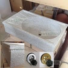 lavelli in graniglia per cucina lavandino in graniglia di marmo grigio cm 88 piletta acquaio