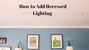 How To Install Recessed Lighting In Ceiling Install Recessed Lighting Without Attic Access
