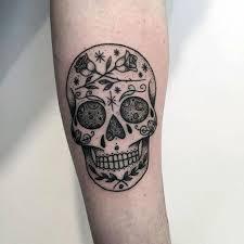 sugar skulls designs tattoos