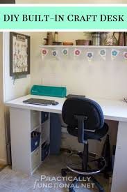 Diy Craft Desk Make Your Own Built In Craft Desk