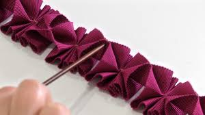 pleated ribbon how to make pleated trim from petersham