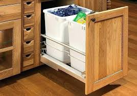 under sink trash pull out under counter garbage can swing out cabinet trash can under sink for