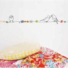 frise adhésive chambre bébé sticker frise perles et oiseaux 5m mimilou pour chambre enfant