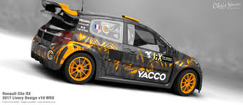 renault clio rally car renault clio rx livery design on behance