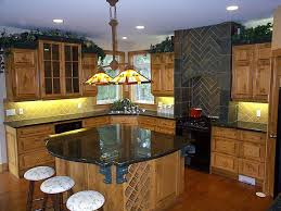pine kitchen with rounded kitchen island jpg 1 152 864 pixels