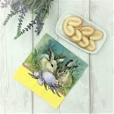easter napkins bunnies easter print paper napkins tutti decor limited gisela