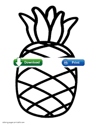 pineapple toddler coloring pages