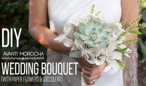 succulent bouquet diy wedding bouquet with paper flower succulent bouquet de