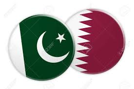 Picture Of Qatar Flag News Concept Pakistan Flag Button On Qatar Flag Button 3d