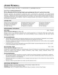 Resume Of Customer Service Manager Resume For Banking Operations Resume For Your Job Application