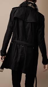 burberry packaway showerproof trench coat in black for men lyst