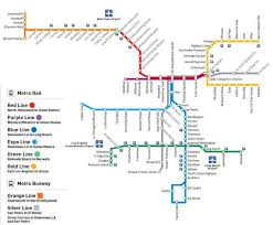 the metro map metro rail