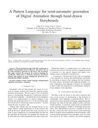 Pattern Language Digital | a pattern language for semi automatic generation of digital animation