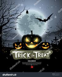 halloween trick treat pumpkin design background stock vector