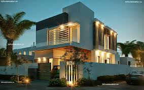 Home Exterior Design In Pakistan Elevation 10 Marla Corner House Plan 3d Front Elevation Design