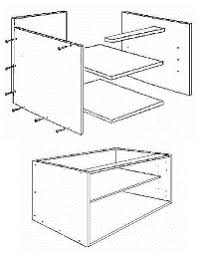 Installing Kitchen Cabinets From A Flat Pack - Kitchen cabinet carcase