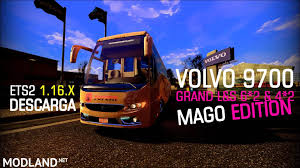 volvo truck bus volvo 9700 grand l s 6x2 and 4x2 mod for ets 2