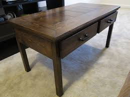 Free Wood Plans Coffee Table by Ana White Coffee Table With Two Drawers Diy Projects