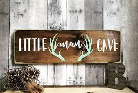 Woodland Animal Nursery Decor by Amazon Com Rustic Deer Nursery Sign Little Man Deer Antler Sign