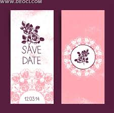 romantic wedding invitation card design flower pattern pink