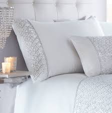 luxury sequin diamante duvet quilt cover bedding bed linen set