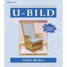 Furniture Lowes Rocking Chairs Glider - shop u bild glider rocker woodworking plan at lowes com