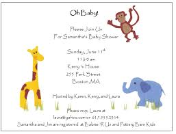 sample of baby shower invitations template examples