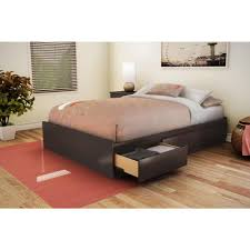 south shore step one 3 drawer full size storage bed in pure black