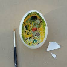 painted eggshells eggshell features recreations of world renowned paintings