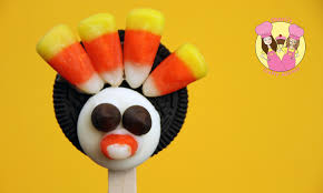 make turkey oreo cookie pops tutorial for thanksgiving