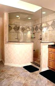 Half Wall Shower Glass Half Wall Shower Glass Door No With Height