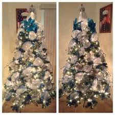 blue white and silver deco mesh christmas tree i am a dallas