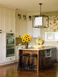 Cream Colored Kitchen Cabinets With White Appliances by Ebony Wood Orange Zest Shaker Door Replacing Kitchen Cabinet Doors