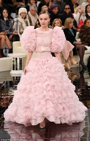 lily rose depp is blushing pink bride at chanel show daily mail